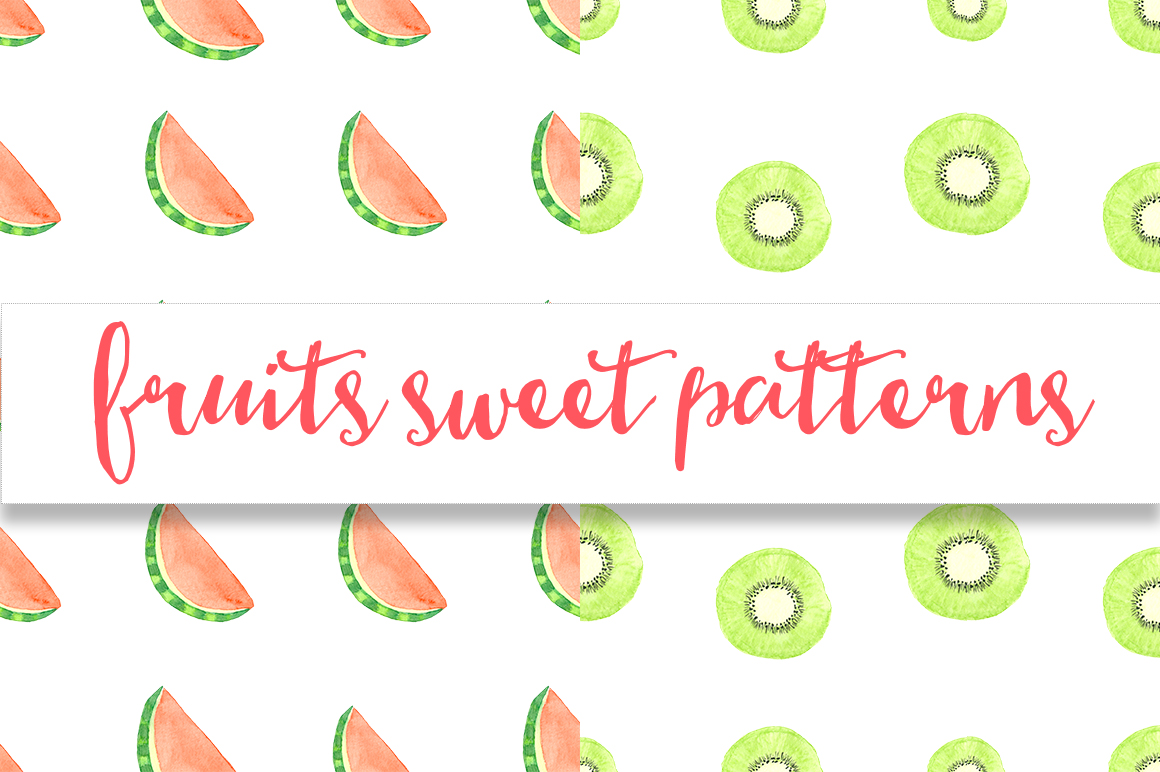 Watercolor sweet fruits example image 7