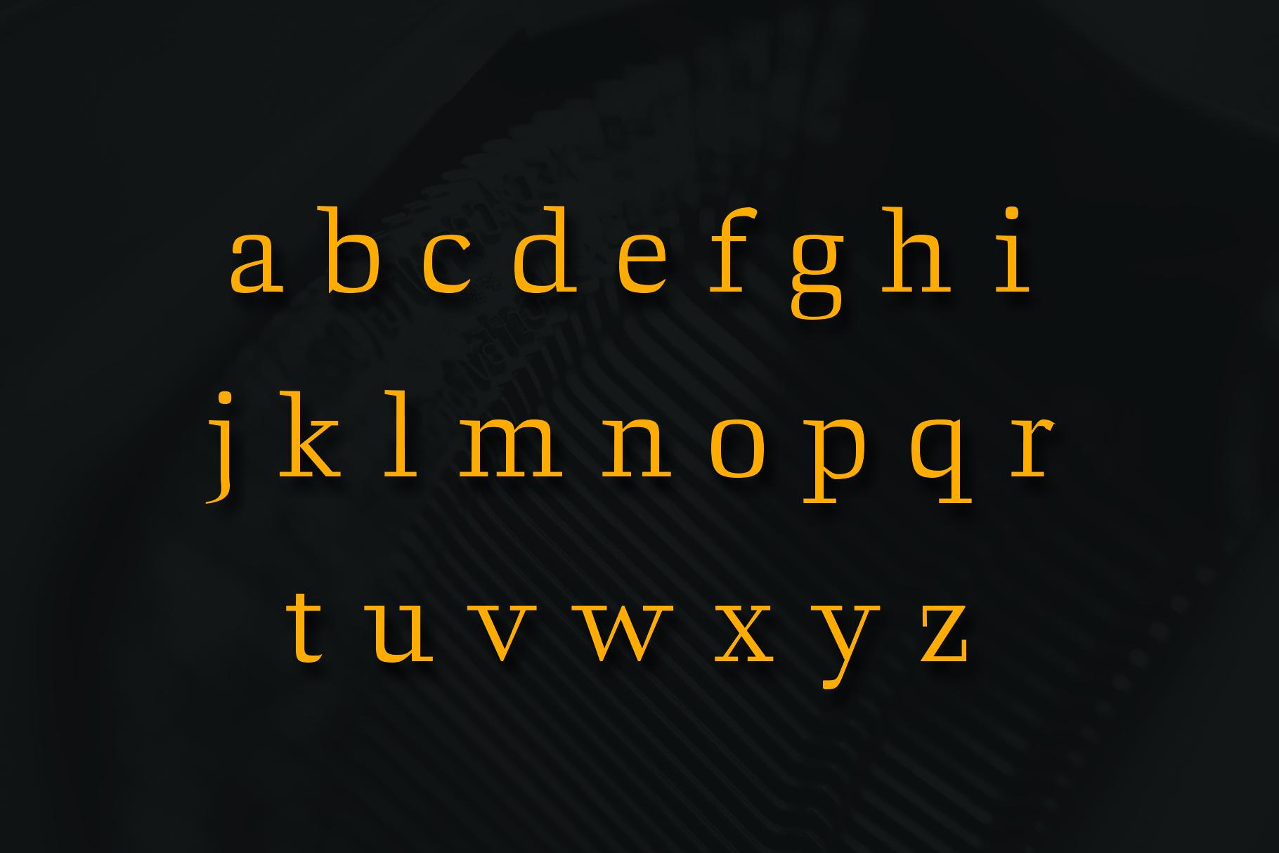 ARCHIBALD, A Classic Slab Serif example image 4