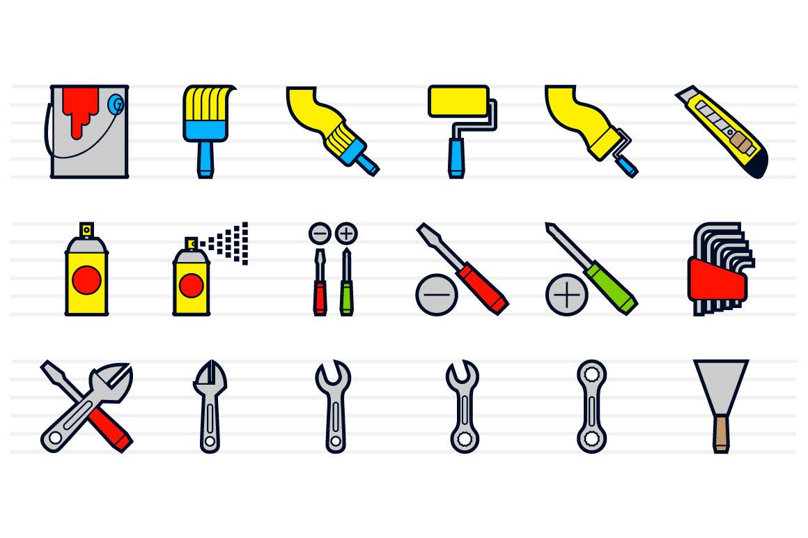 Hardware Tools Icons Set example image 2