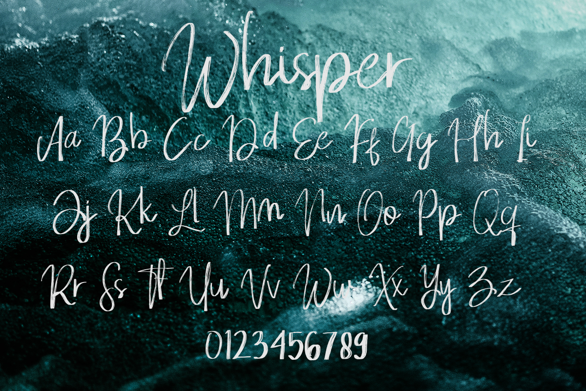 Whisper Brushes Script Font example image 11