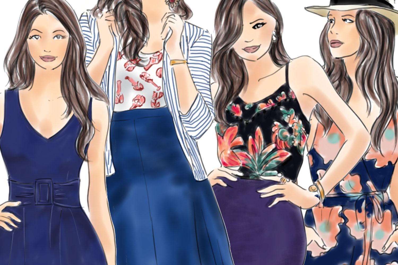 Fashion illustration clipart - fashion Girls - Volume 4 example image 3