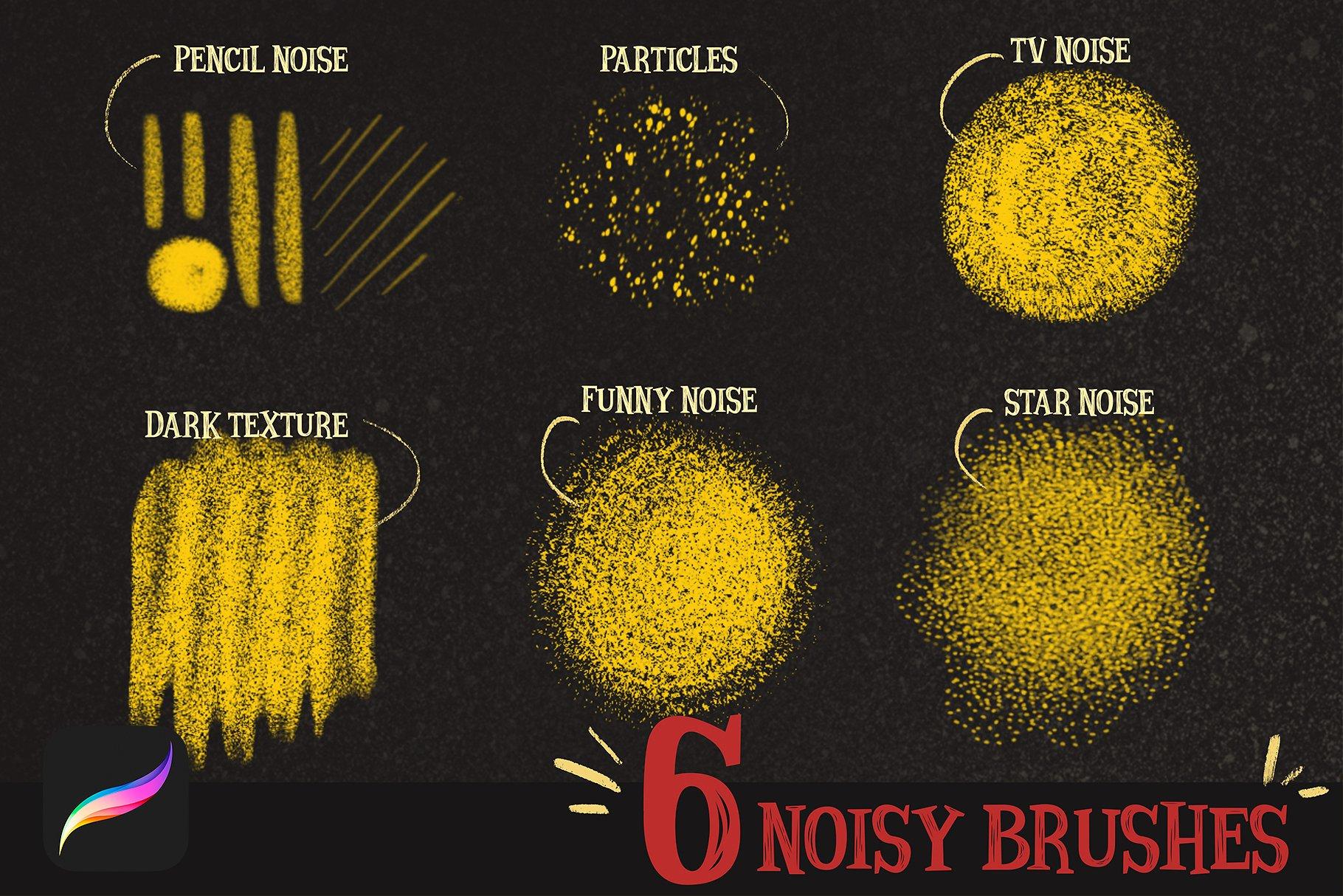 MAGIC NOISE BRUSHES for procreate example image 2