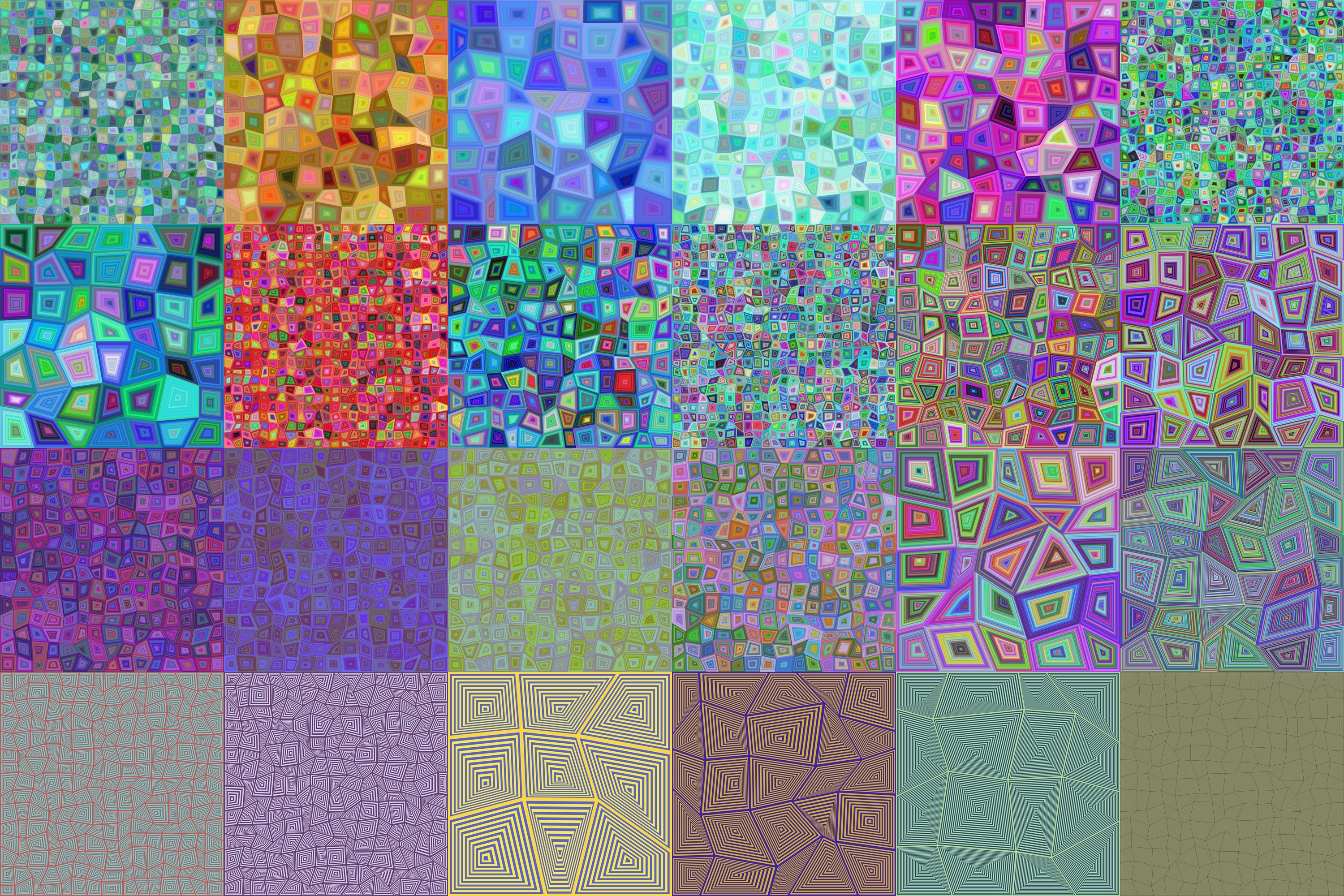 30 colorful rectangle backgrounds (AI, EPS, SVG, JPG 5000x5000) example image 2