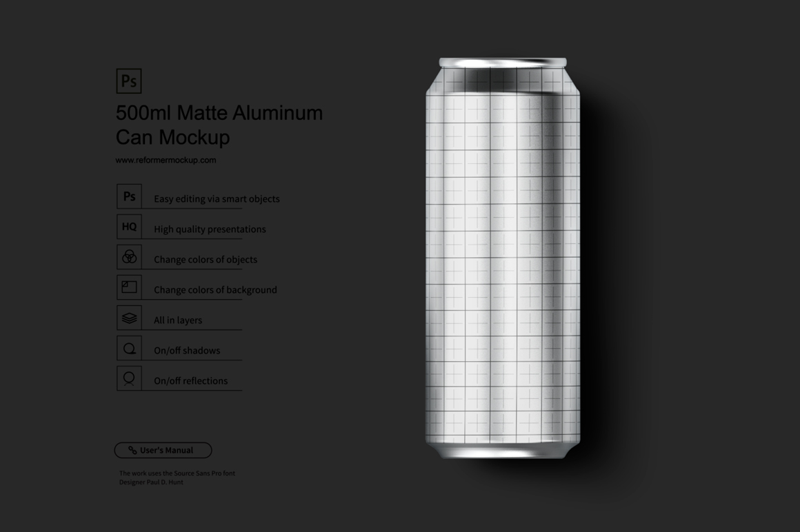330ml Gold Matte Aluminum Can Mockup example image 3