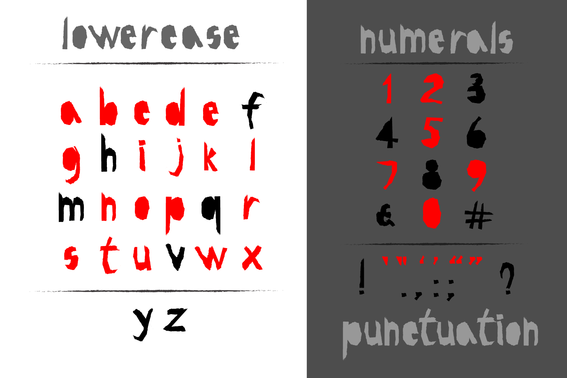 Red-and- Black OTF font example image 2