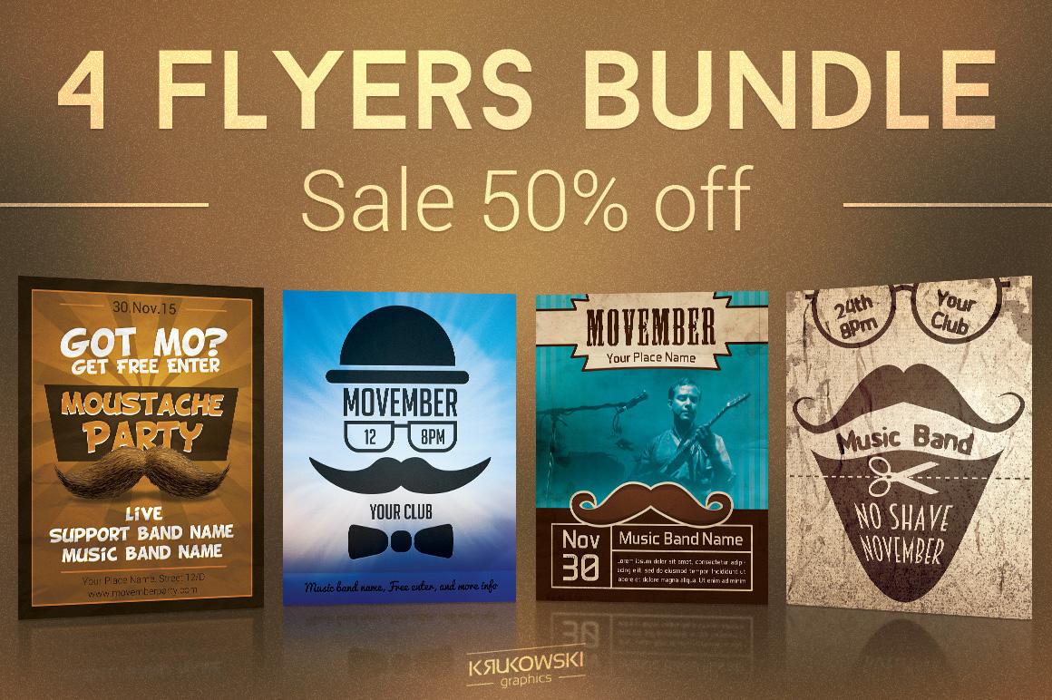 Movember Flyers Bundle example image 1