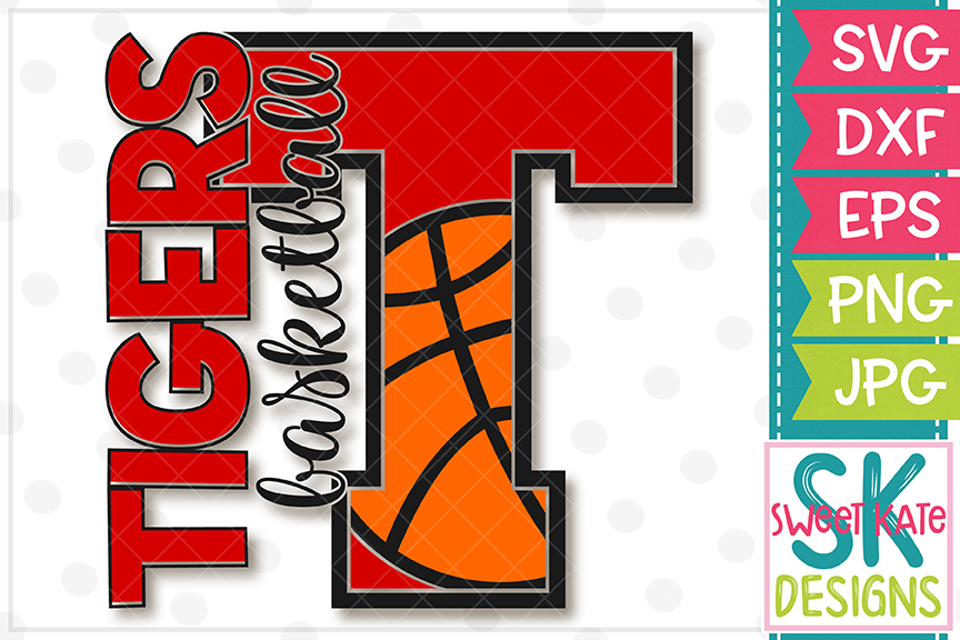 T Tigers Basketball SVG DXF EPS PNG JPG example image 2