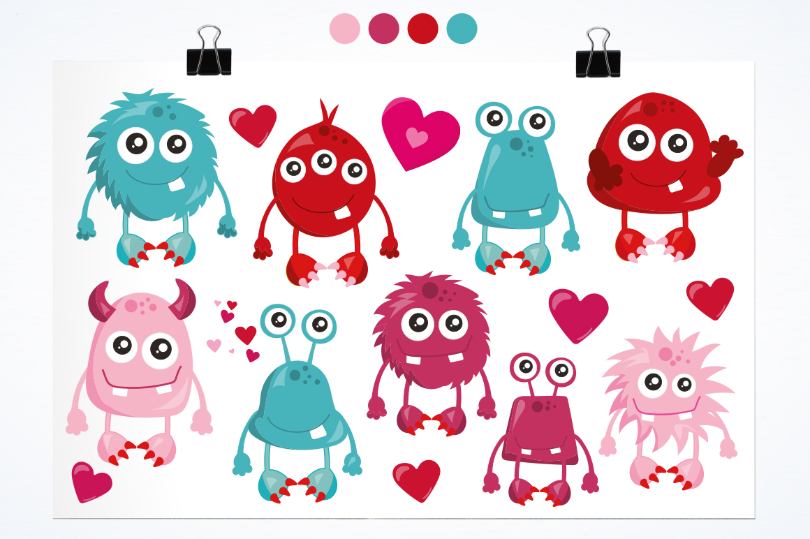 Love Monster graphic and illustrations example image 2