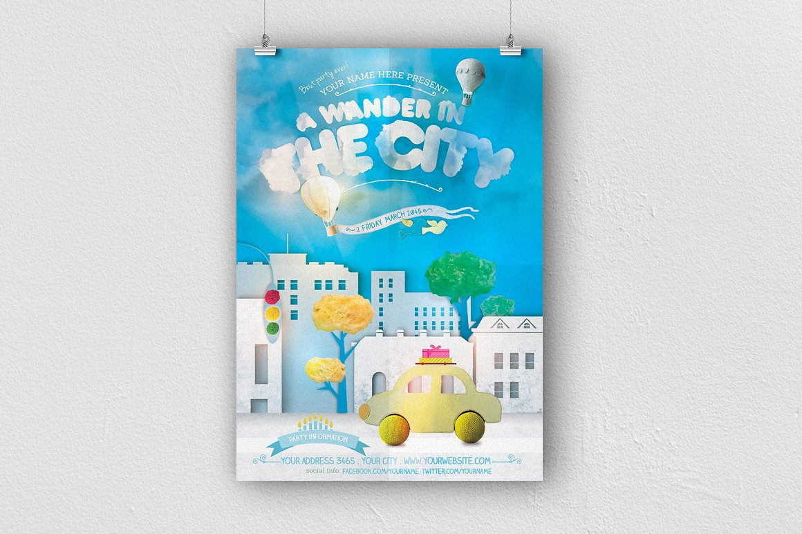 A Wander In The City Flyer Template example image 1