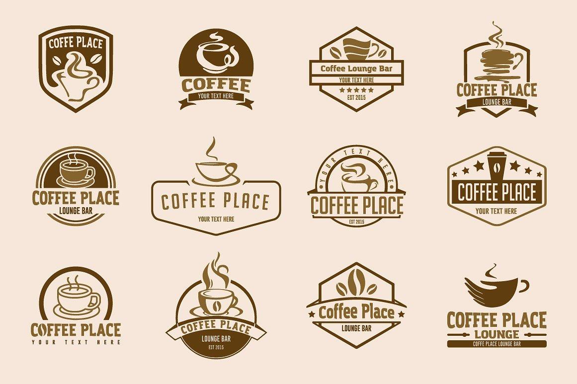 12 coffee logo templates example image 2