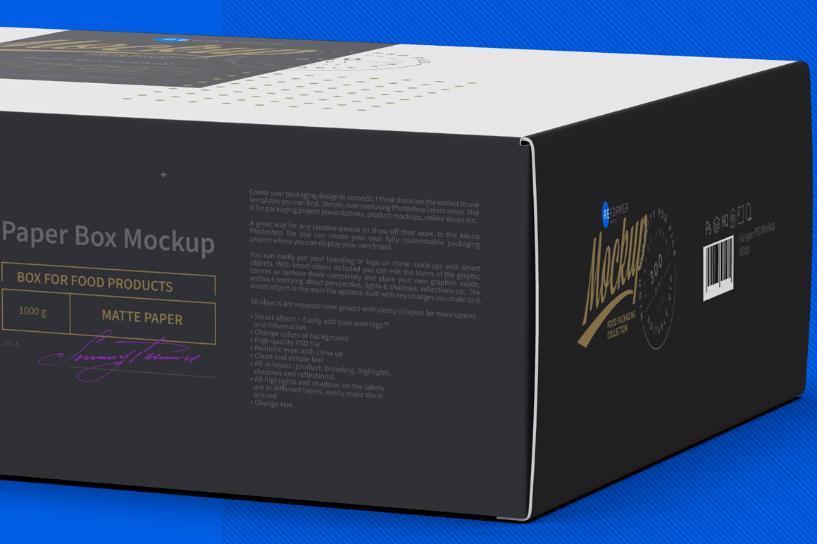 Paper Box Mockup Half Side View example image 6