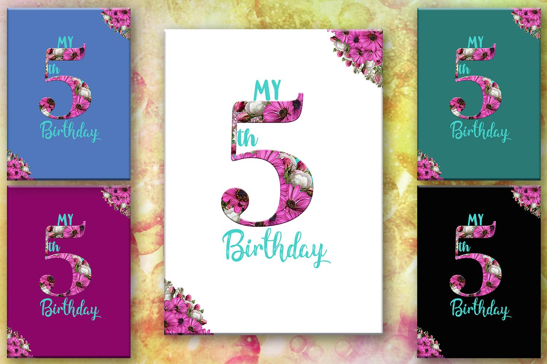 5th Birthday Card Number Five Birthday Birthday 50off