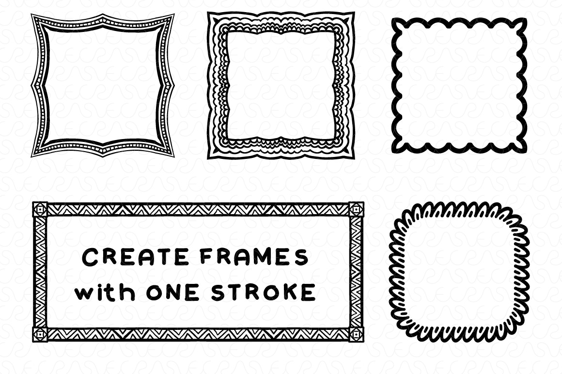 Vector Brushes - Handmade Tribal Style Graphics example image 12
