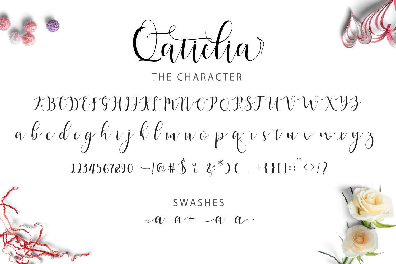 Qatielia Script | 3 Font Bonus example image 6