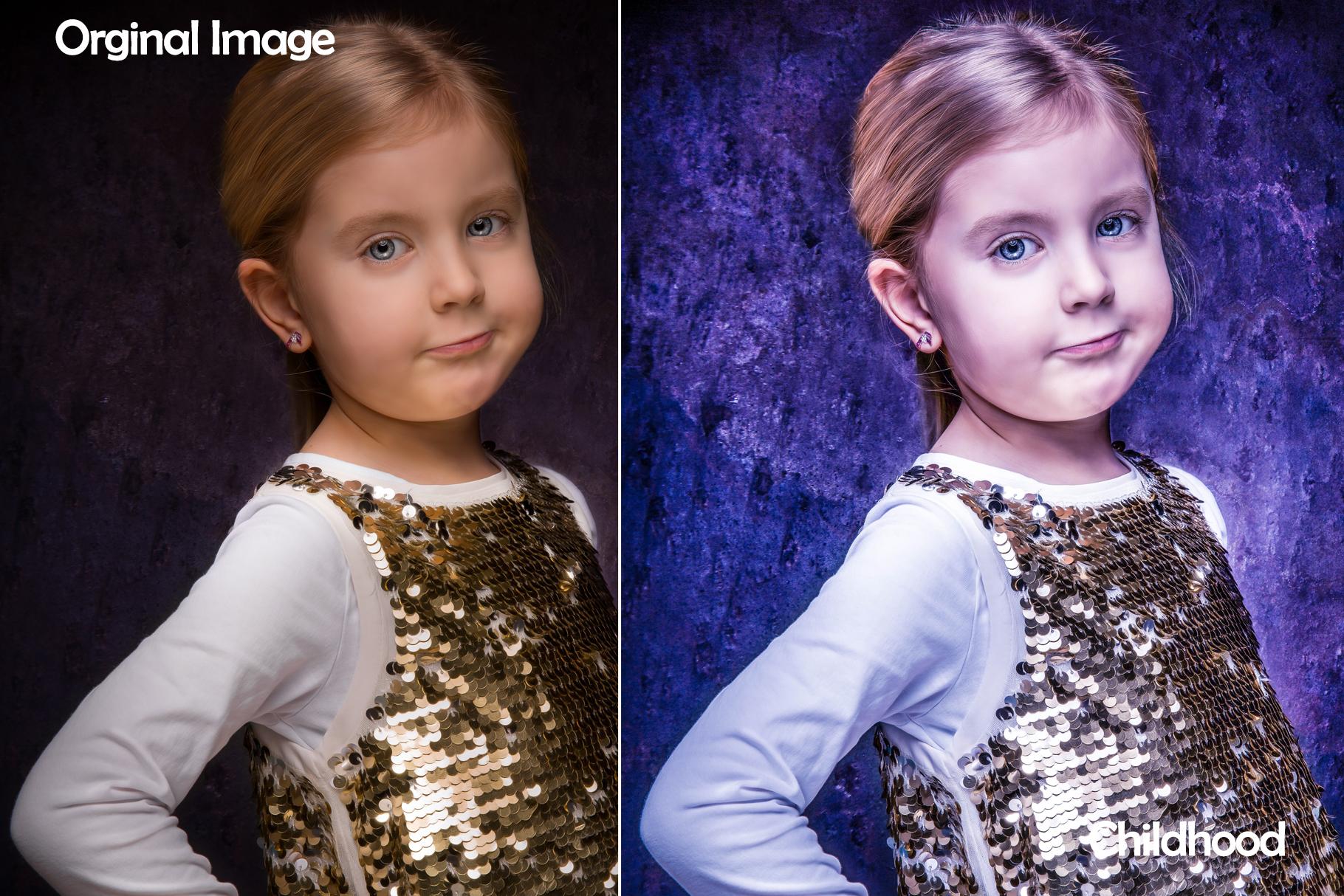 100 Side Light Childhood Lightroom Presets example image 5
