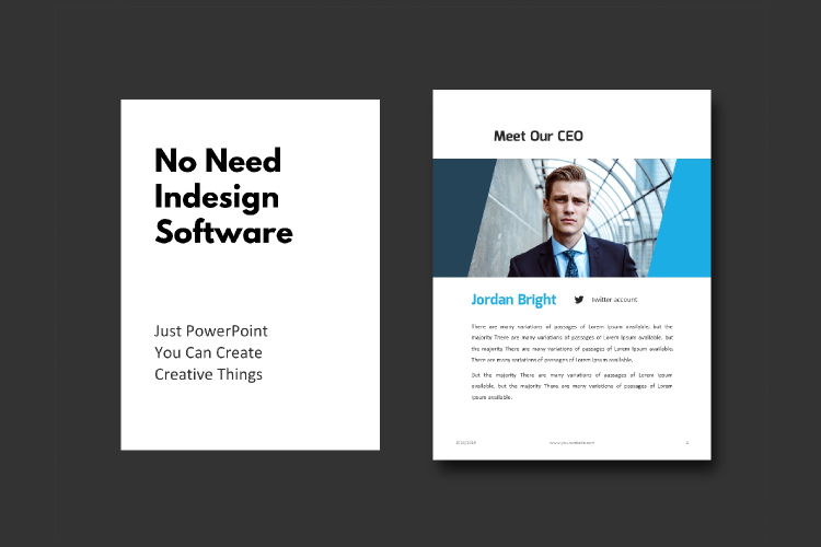 Business Report eBook Powerpoint Template example image 3