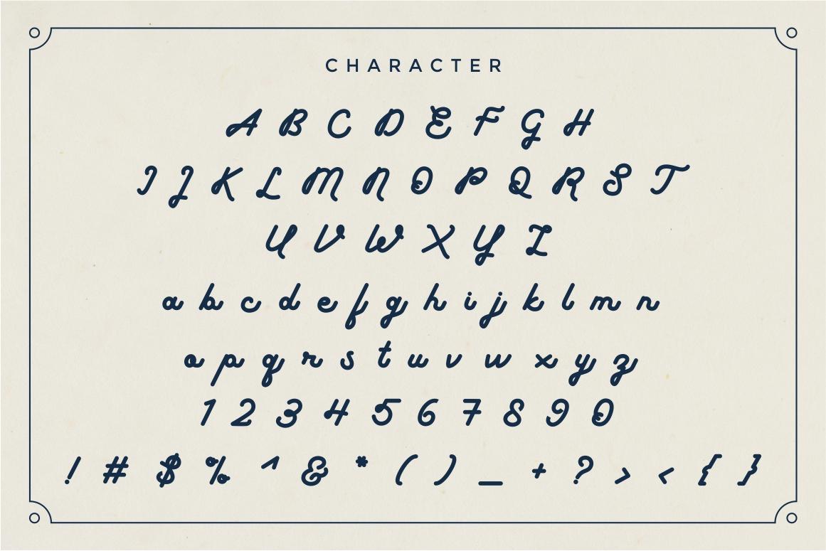 boldline - monoline bold typeface example image 6