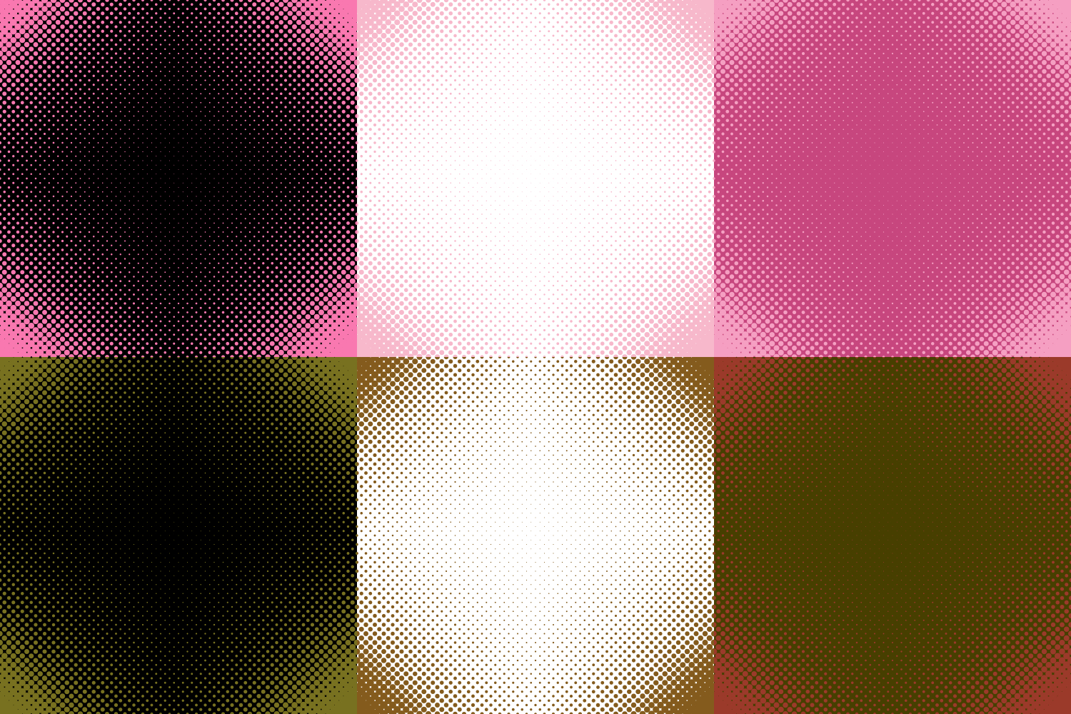 30 Halftone Circle Backgrounds AI, EPS, JPG 5000x5000 example image 7