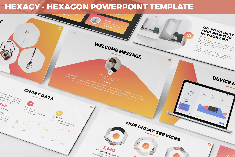 Hexagy - Hexagon Style Powerpoint Template example image 1
