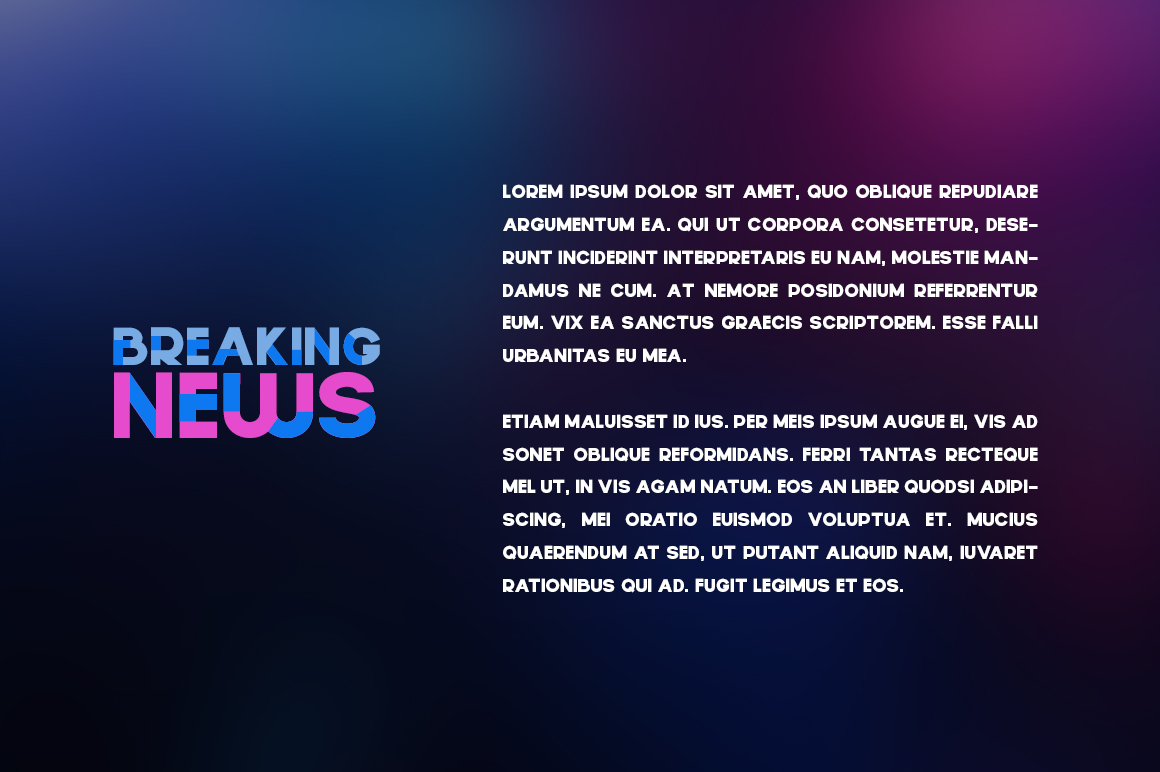 Qsans Layered Font example image 5