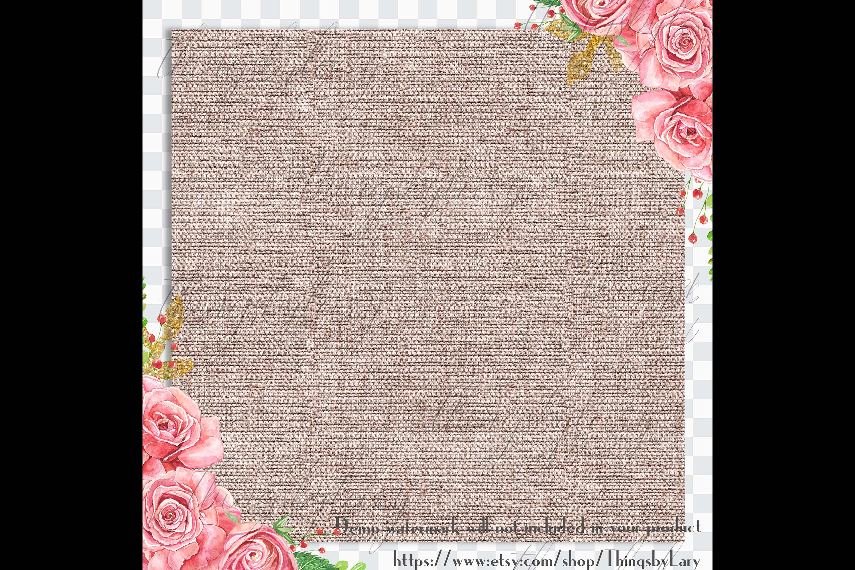 100 Seamless Realistic Burlap Texture Shabby Digital Papers example image 2