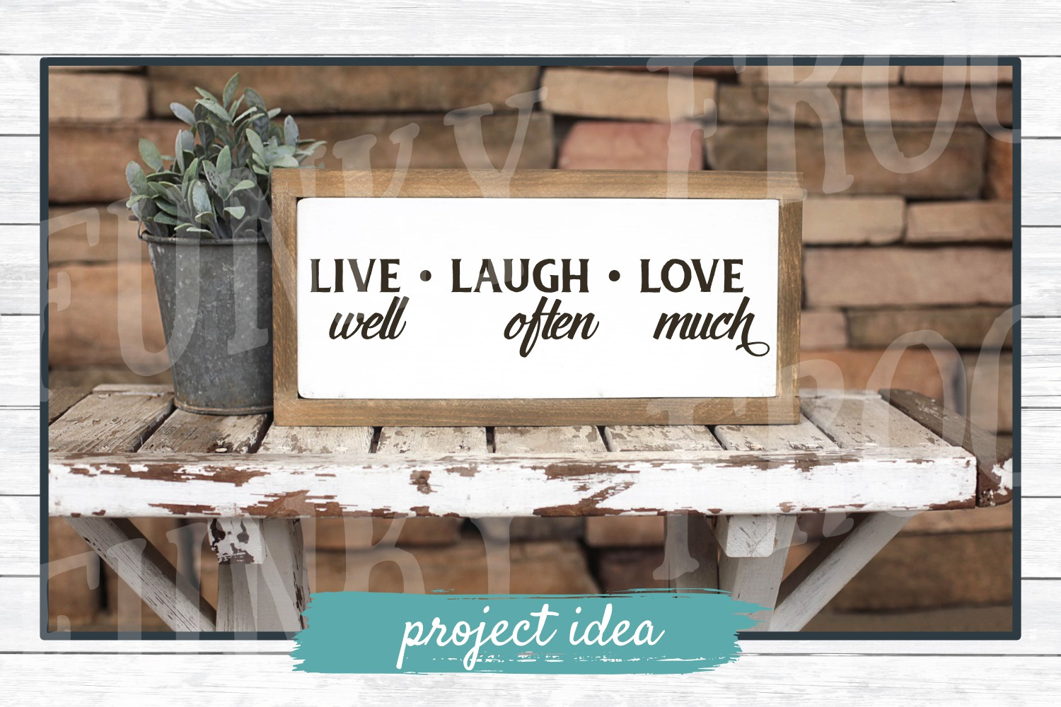 Live Laugh Love- Inspirational SVG Cut File for Crafters example image 2