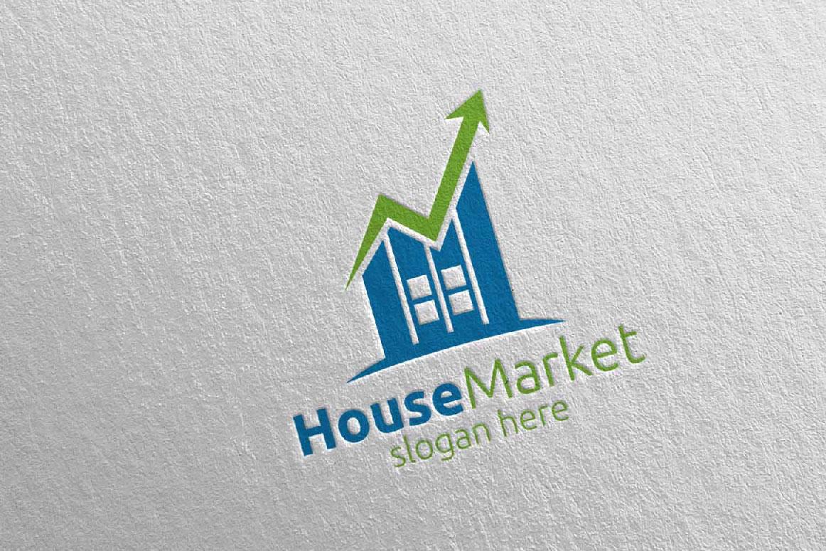 Real Estate Marketing Financial Advisor Logo Design 22 example image 4