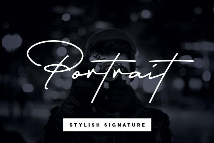 Portrait Signature Script - 6 Fonts - font bundle example image 1