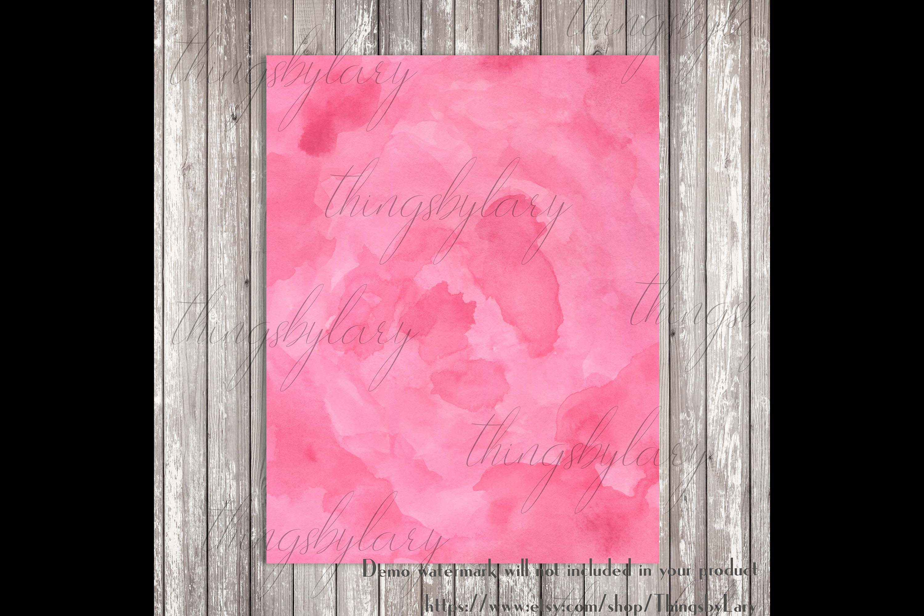 18 Sweet Ombre Watercolor Digital Images Card Invitation example image 2