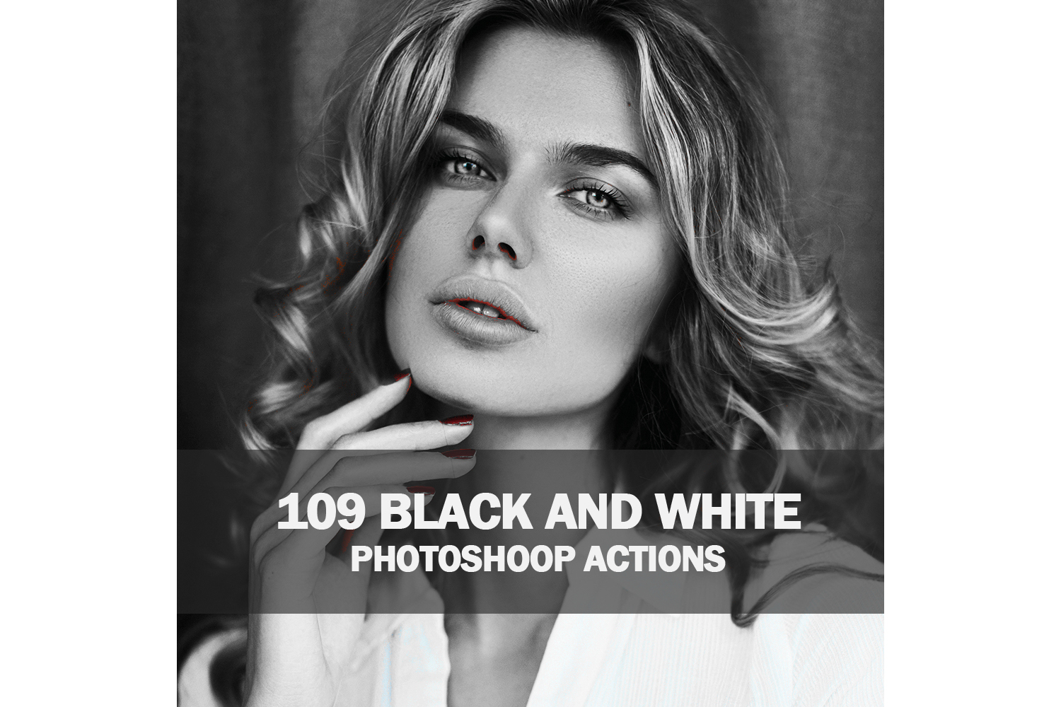 109 Black And White Photoshoop Actions Collection (Action for photoshop CS5,CS6,CC) example image 1