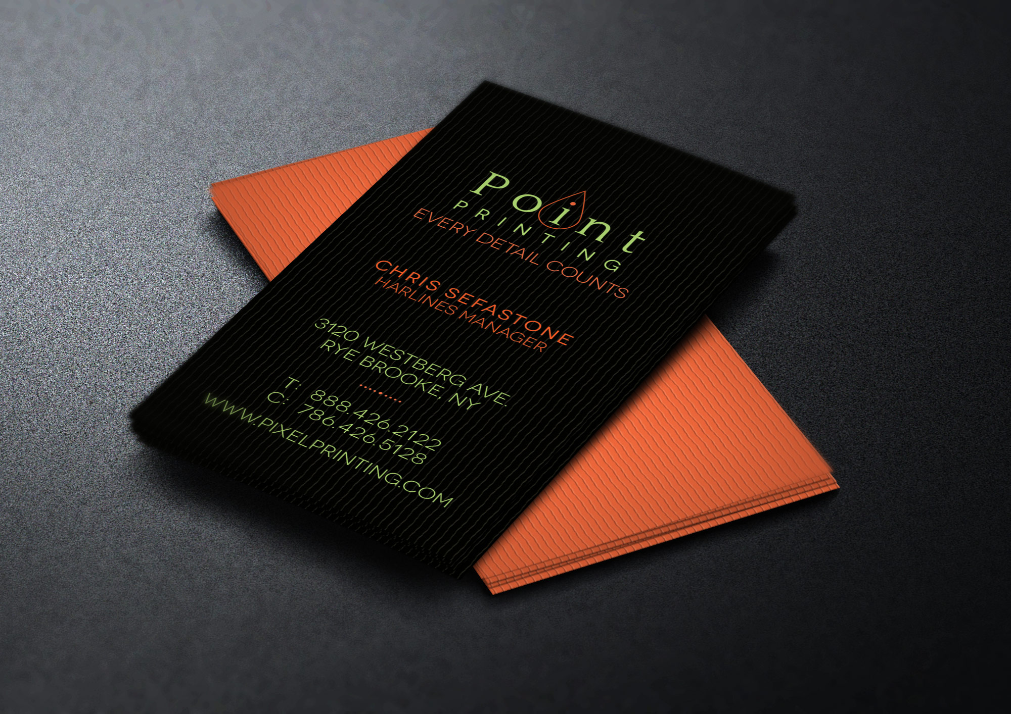 Digital Printter Business Card Template example image 1