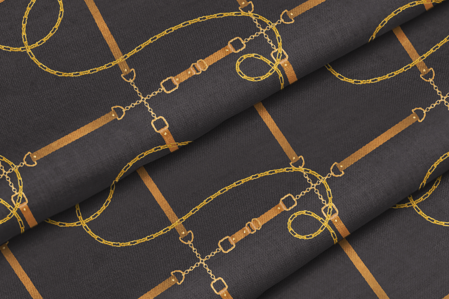 Chains and Belts Seamless Patterns. Set 3 example image 4
