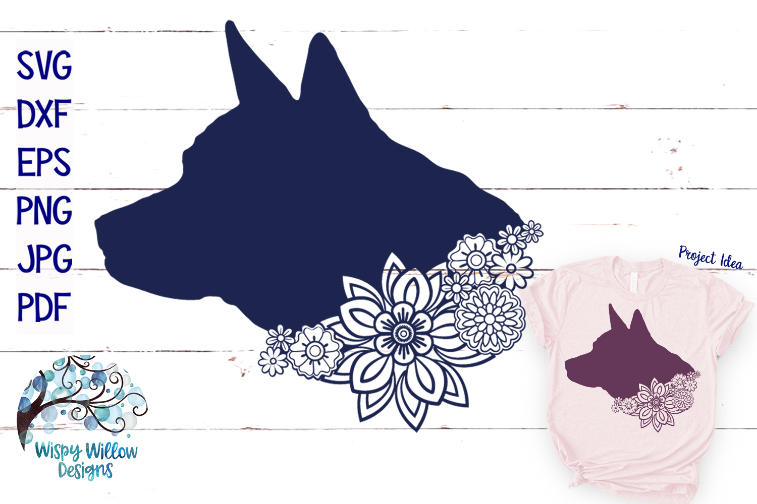Floral Animal Bundle | Floral Animal SVG Cut Files example image 6
