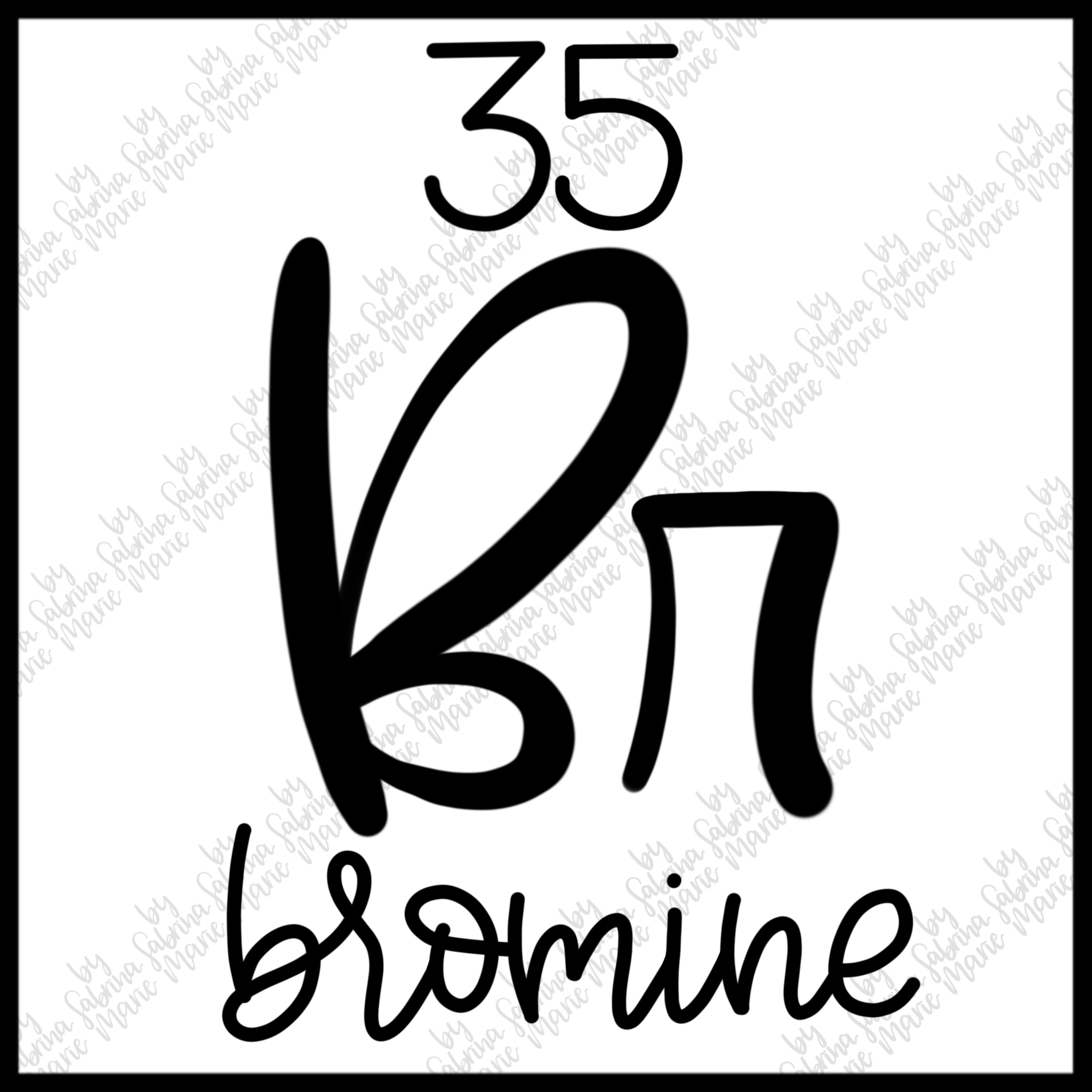 35 Bromine Handdrawn Periodic Table Element Svgpng