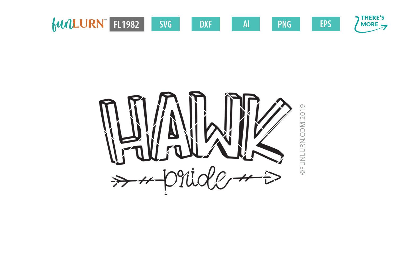 Hawk Pride Team SVG Cut File example image 2