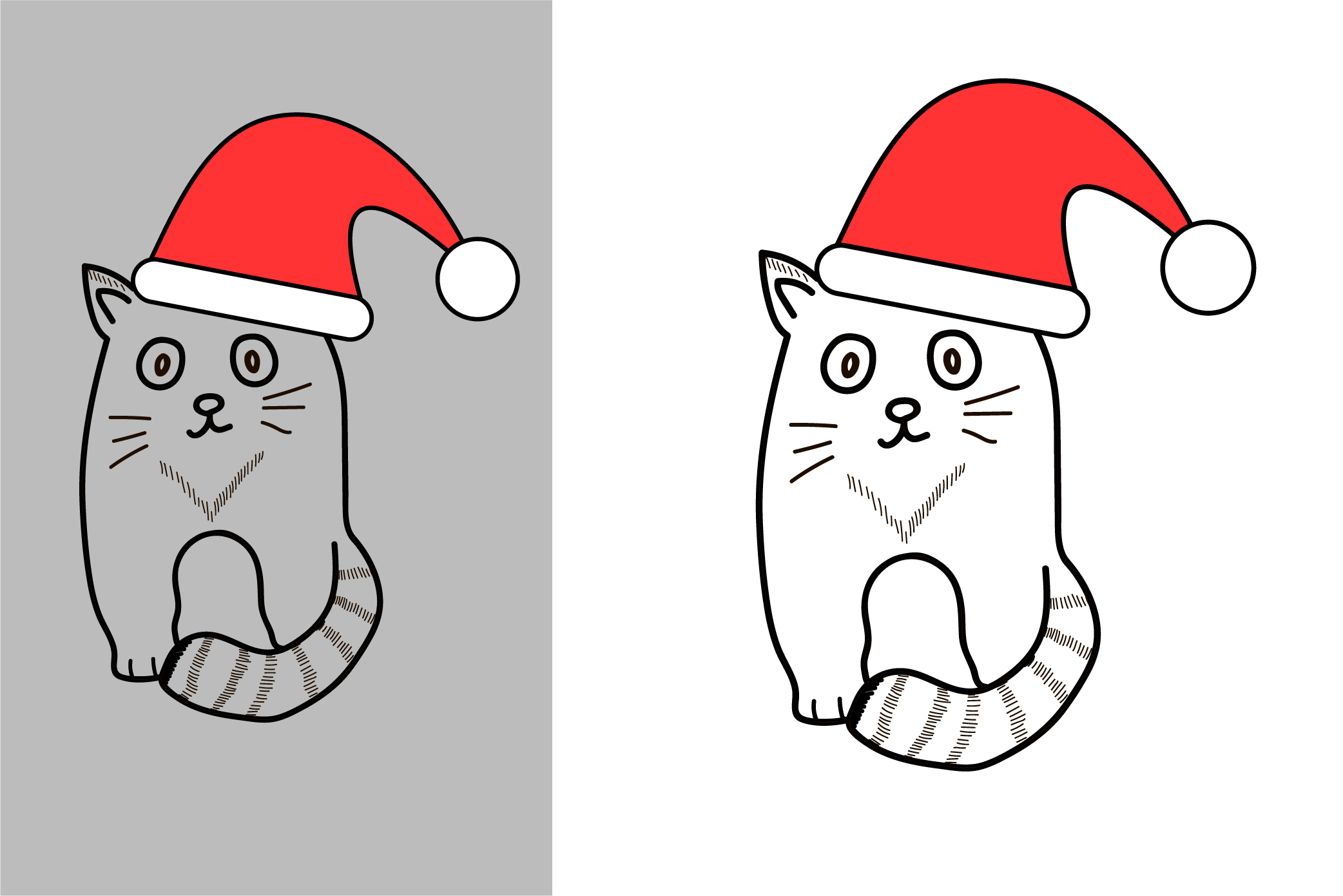 Cute cat. New Year and Christmas animal. example image 2