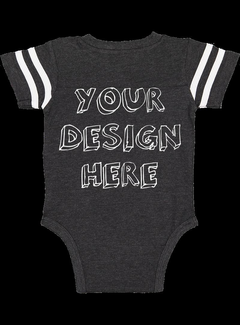 Infant Football Bodysuit Mockups - 12 |PNG|Front/Back - V2 example image 11