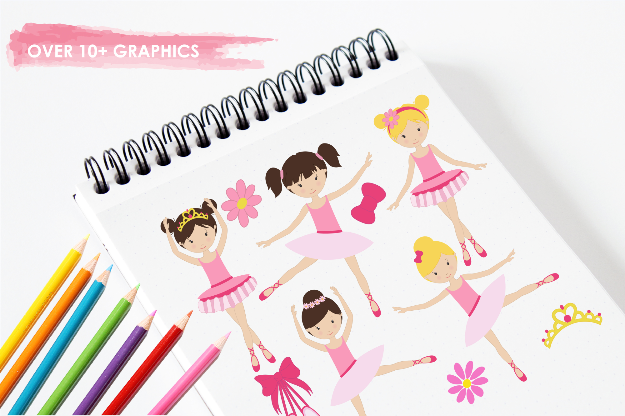 Dancing Ballerinas graphics and illustrations example image 3