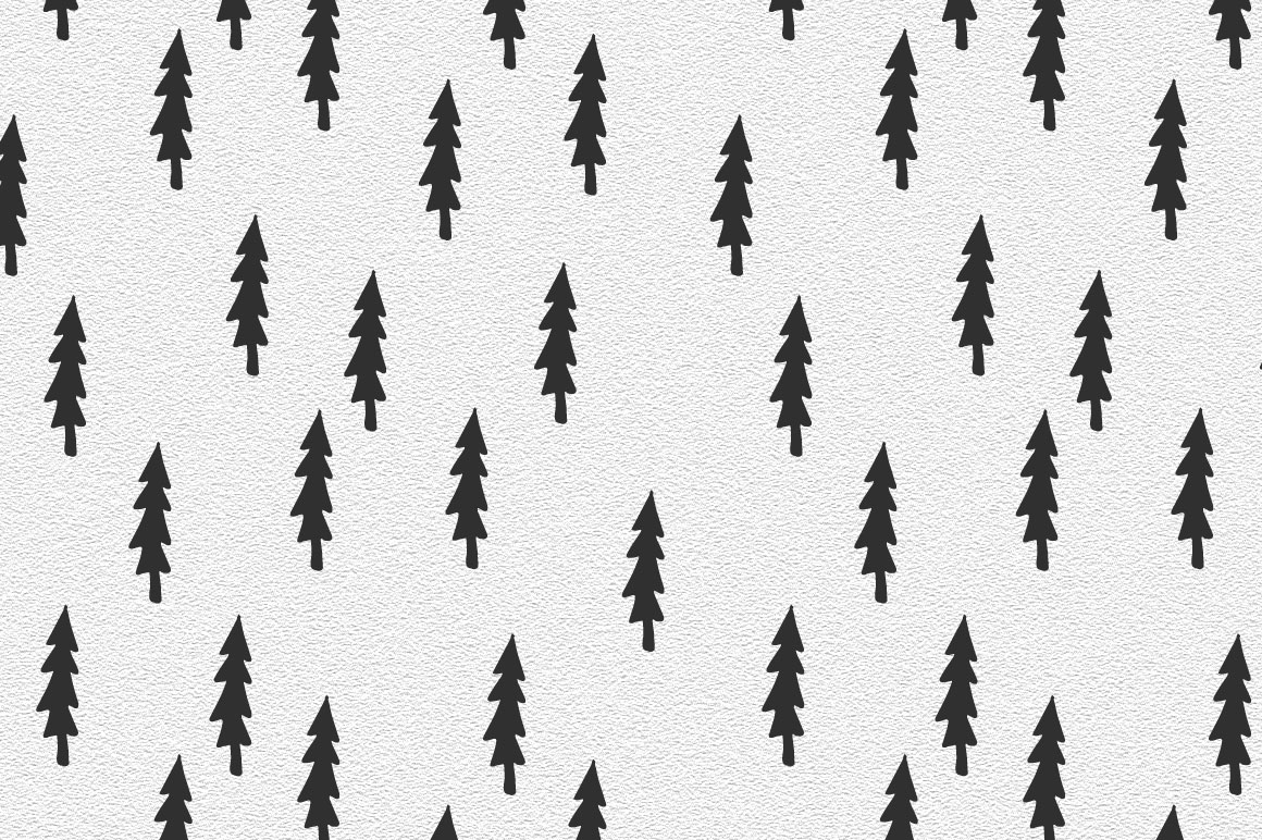 Trees pattern collection example image 6