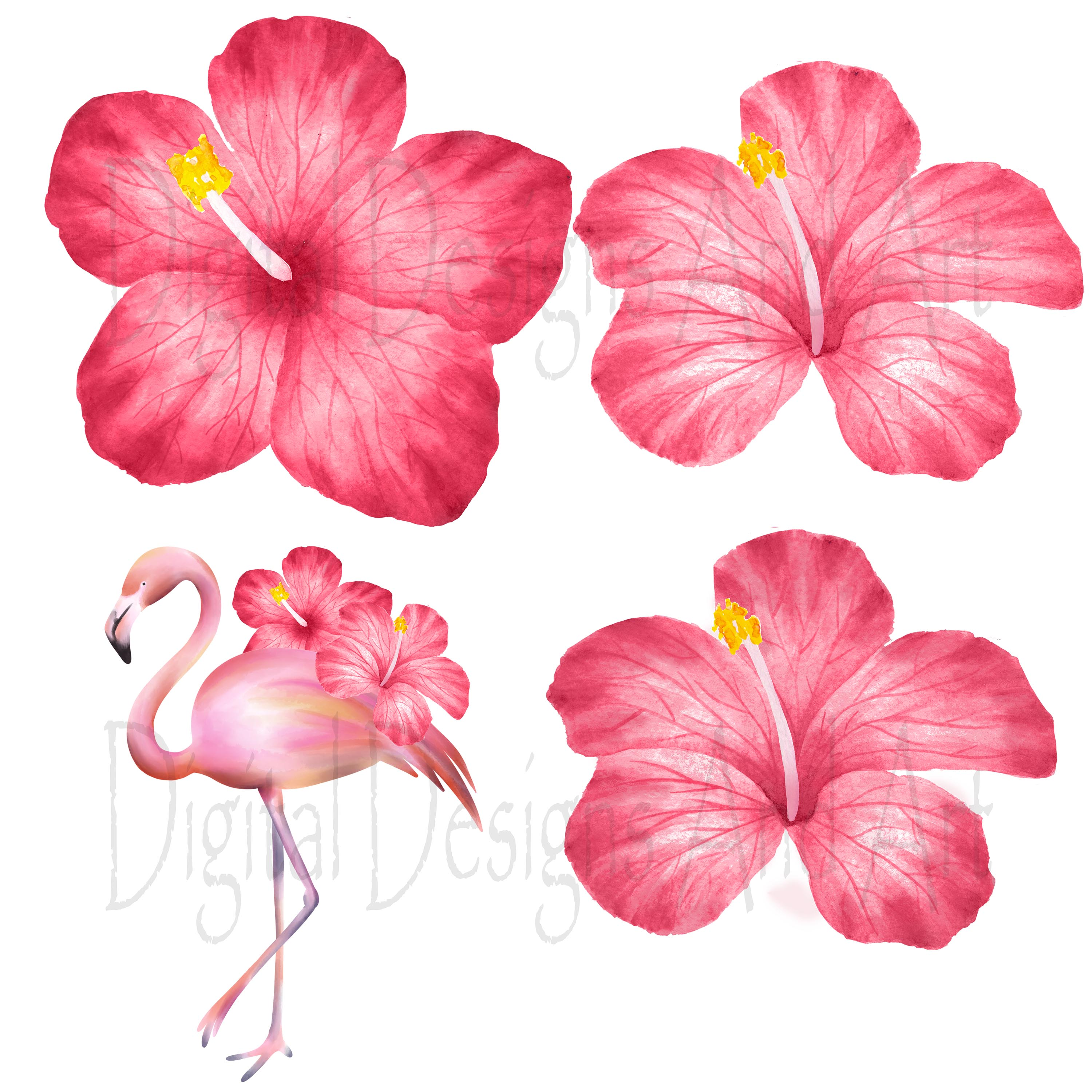 Pink flamingo clipart example image 6