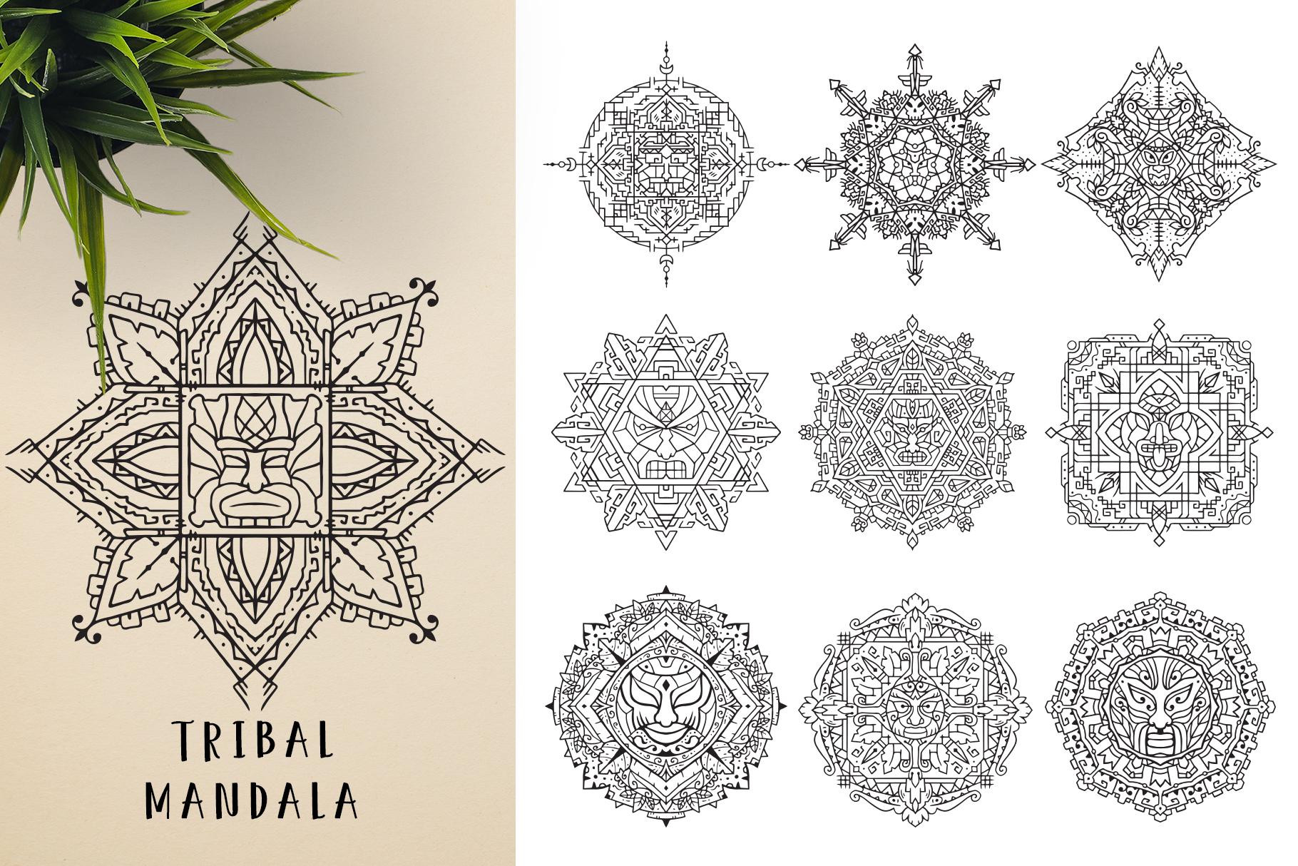 300 Vector Mandala Ornaments example image 23