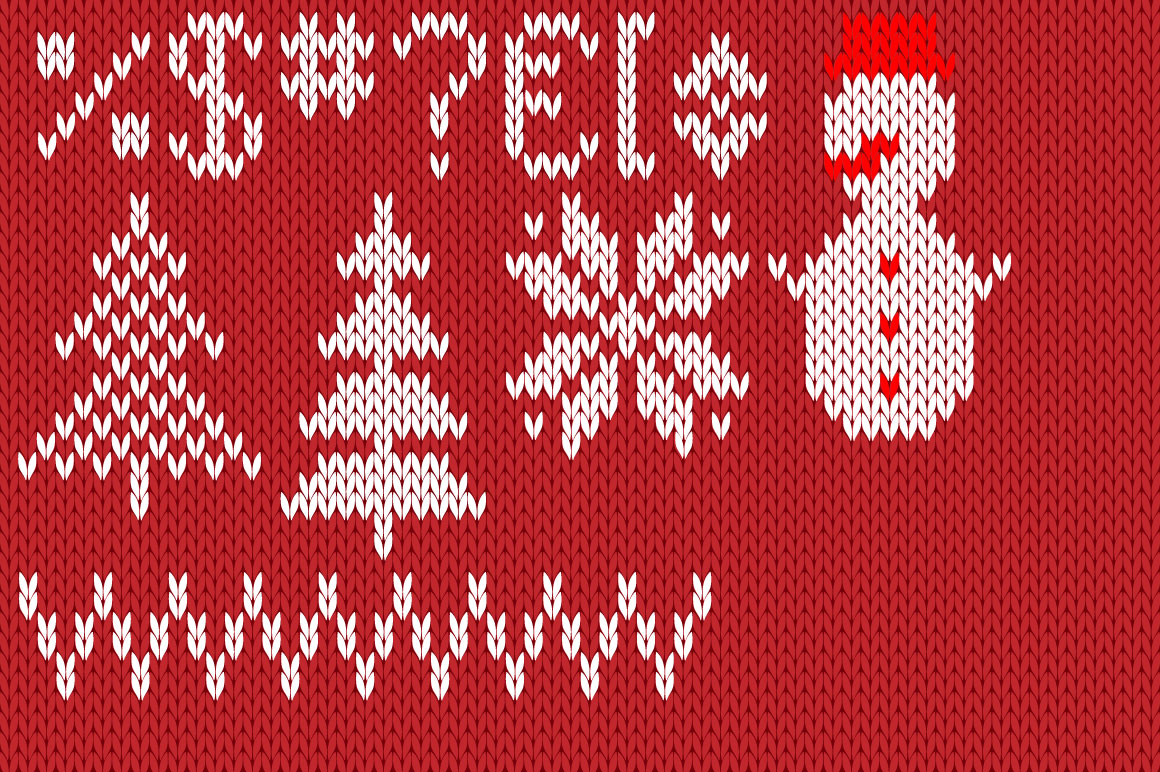 Christmas Knitted Font Ol Version 2.0 example image 4