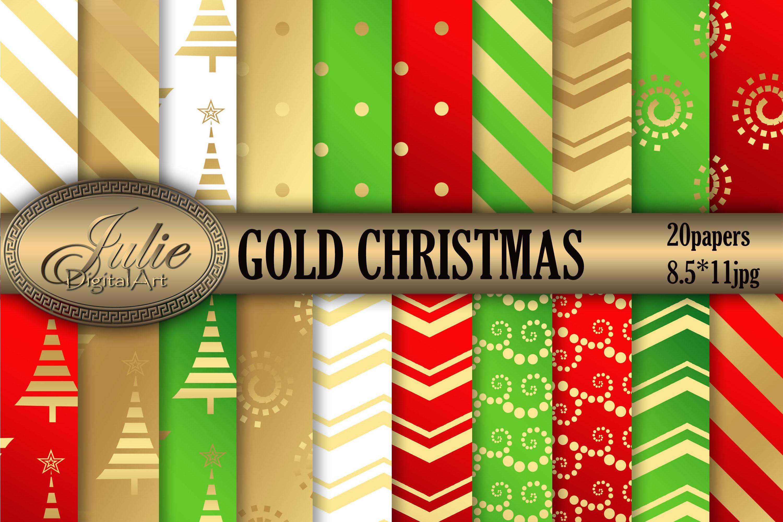 Gold Metallic Christmas background 8, 5 x 11 inch example image 1