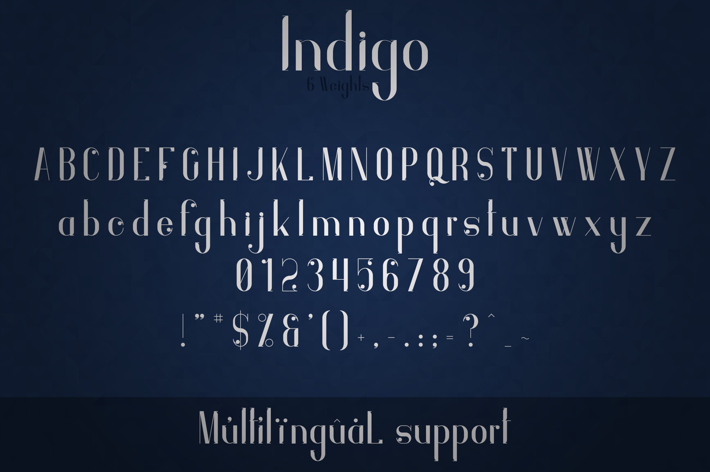 Indigo Typeface - 6 Weights example image 9