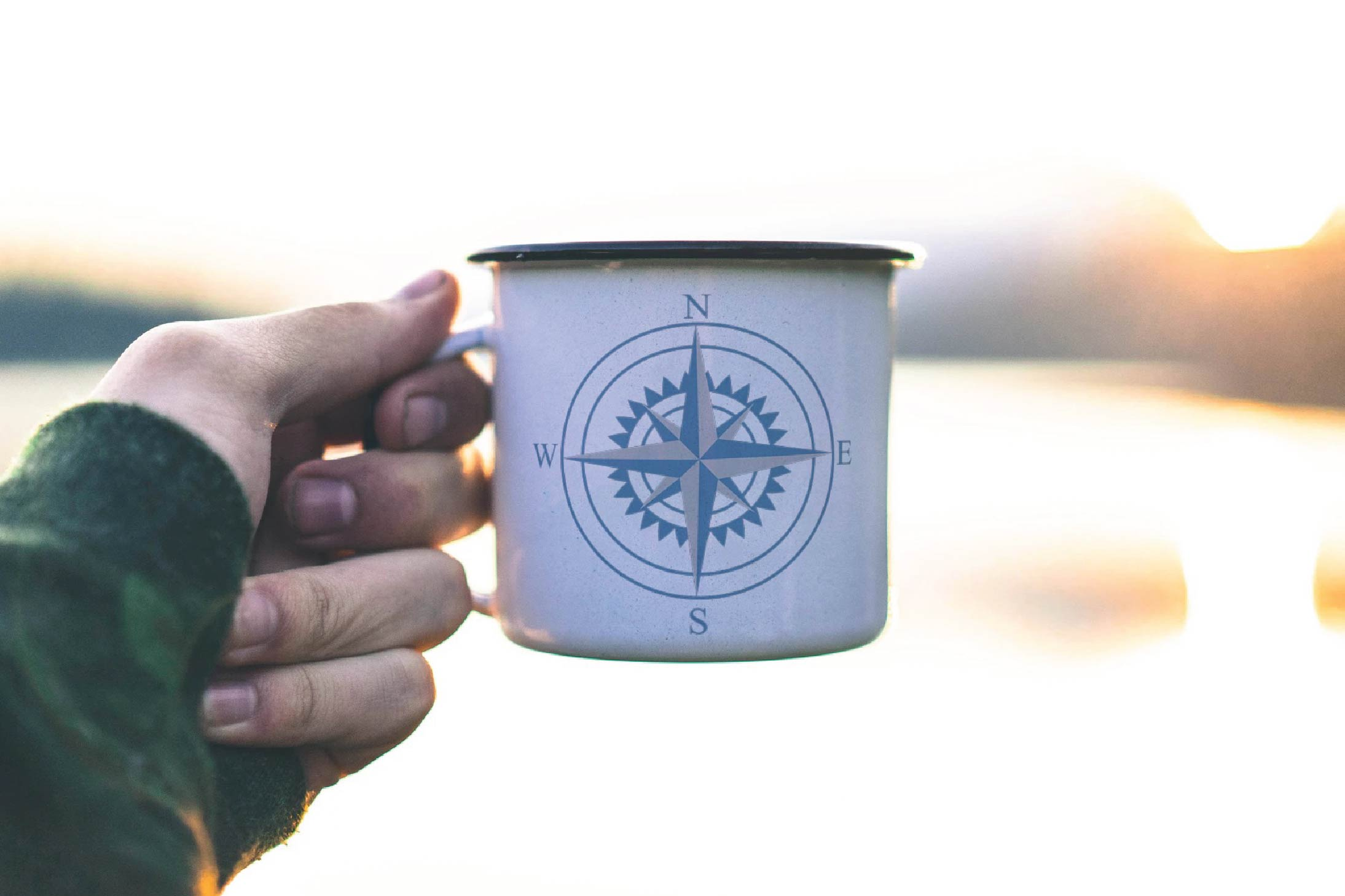 Compass rose navigation silhouette. Travellers decoration. example image 3