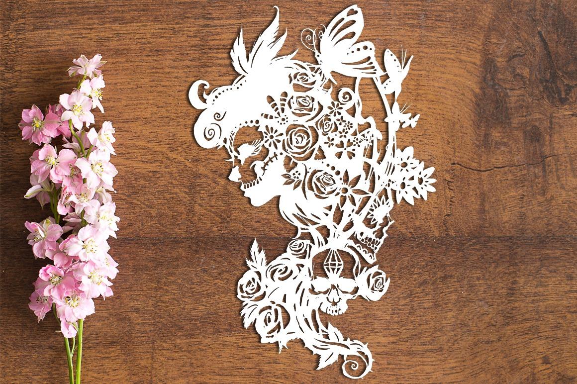 Dia De Los Muertos - Paper Cutting Template example image 1