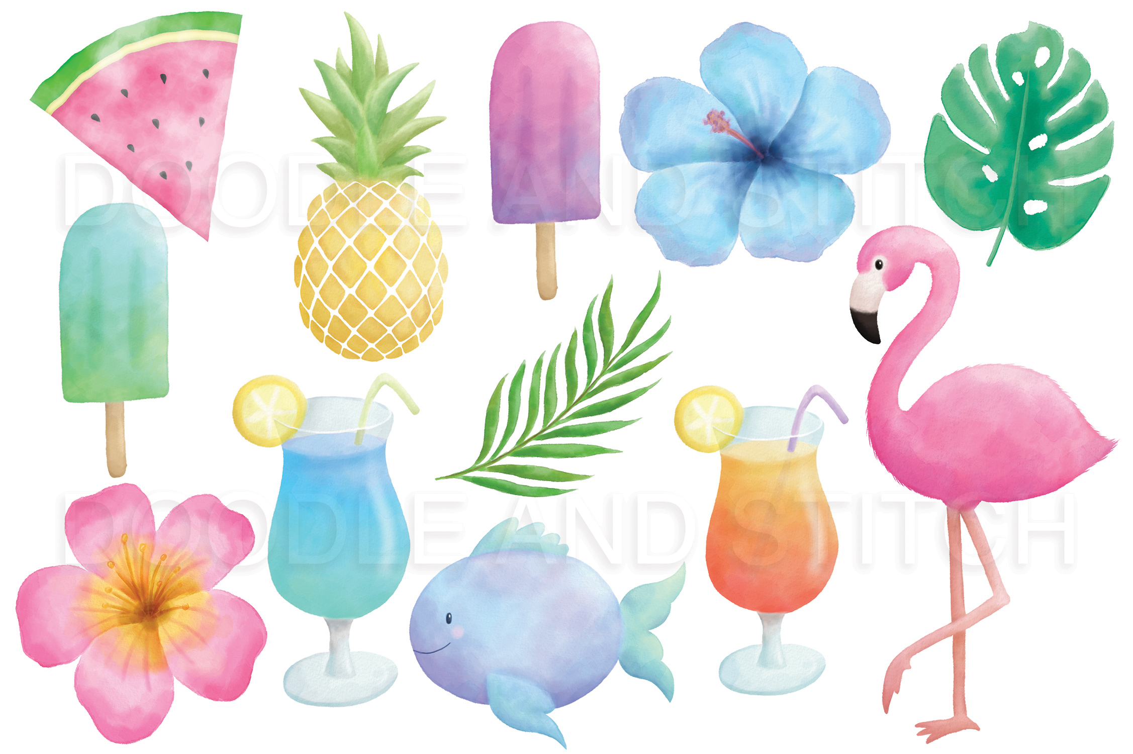Tropical Watercolor Illustrations example image 2