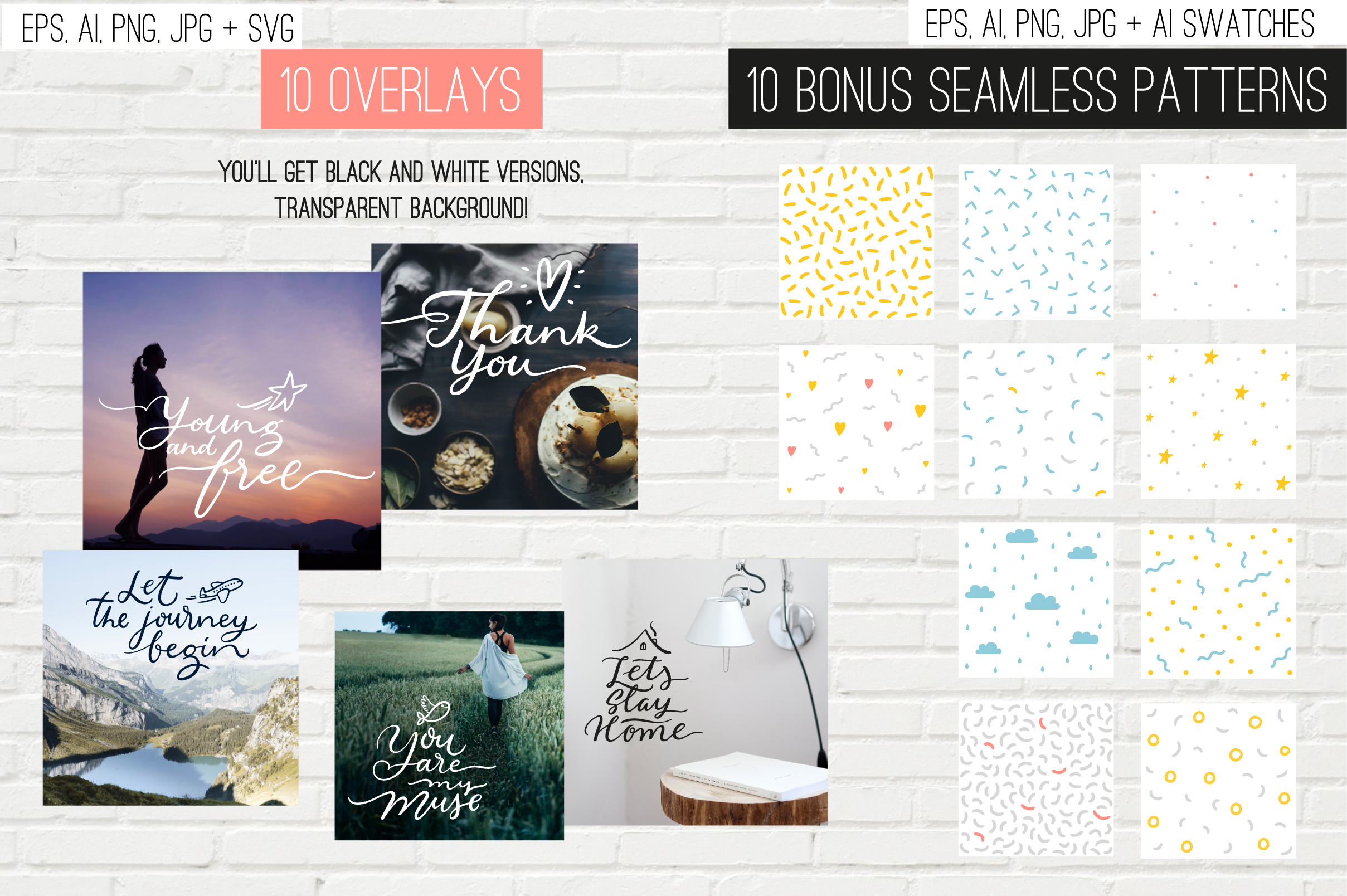10 overlays, cards and tags example image 2