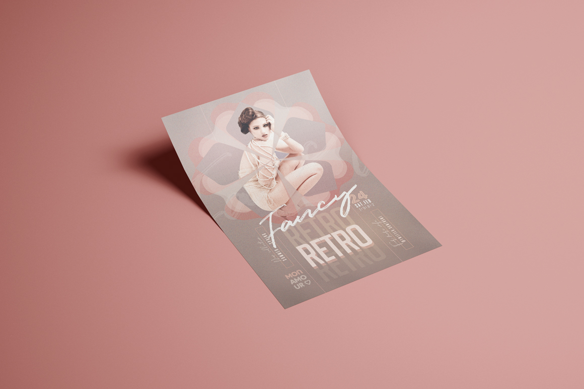 Retro Fancy Flyer Template example image 3