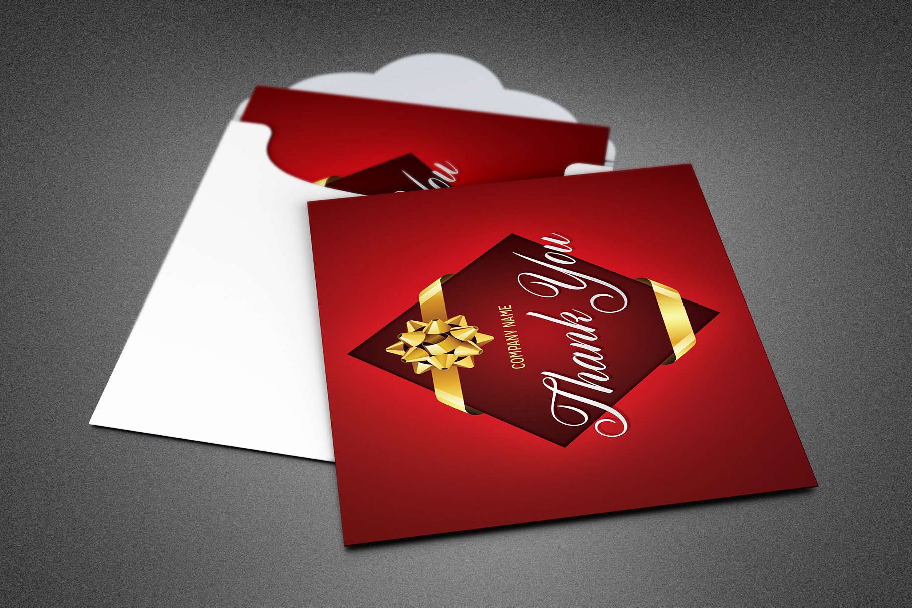 Company Christmas Thank You Card example image 1
